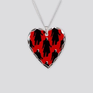red nosferatu Necklace Heart Charm