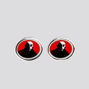 red nosferatu Oval Cufflinks