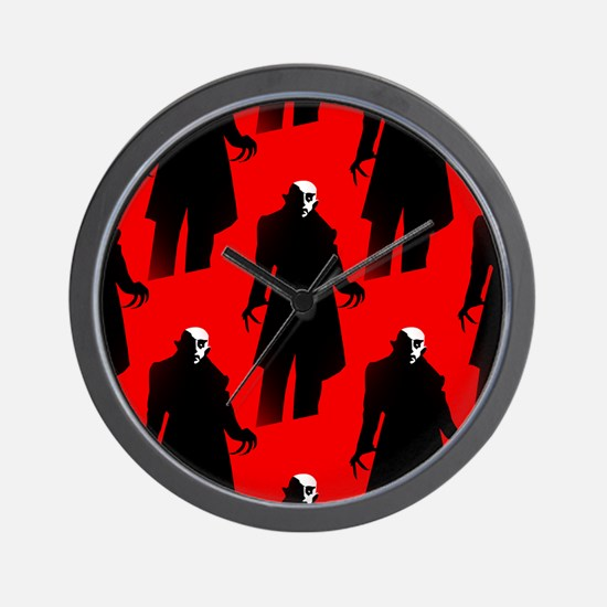 red nosferatu Wall Clock