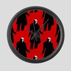 red nosferatu Large Wall Clock