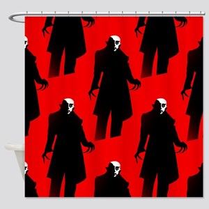 red nosferatu Shower Curtain
