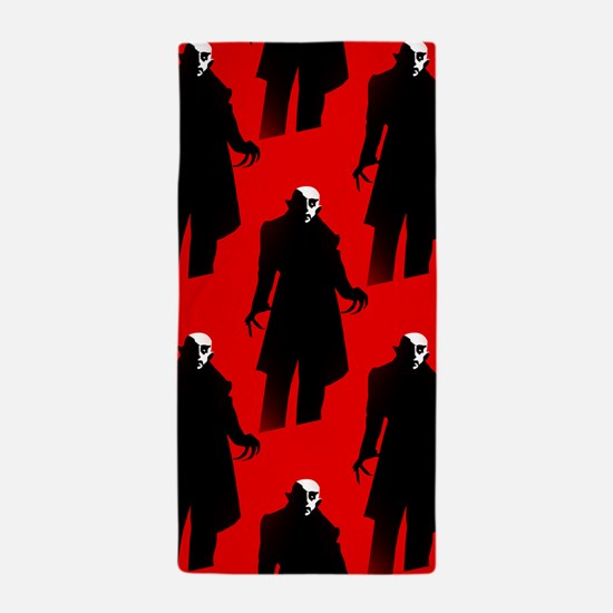red nosferatu Beach Towel