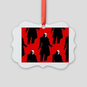red nosferatu Picture Ornament