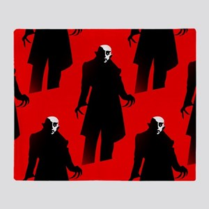 red nosferatu Throw Blanket