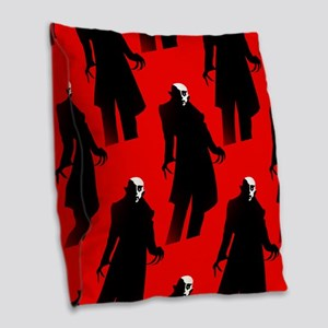 red nosferatu Burlap Throw Pillow