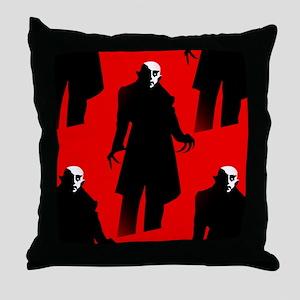 red nosferatu Throw Pillow