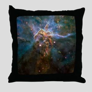 Carina Nebula by Hubble/STScI Throw Pillow
