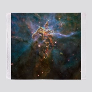 Carina Nebula by Hubble/STScI Throw Blanket