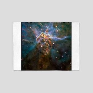 Carina Nebula by Hubble/STScI 5'x7'Area Rug