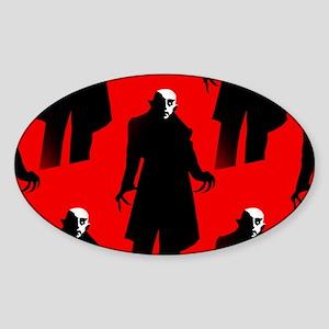 red nosferatu Sticker