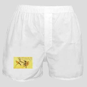Owl and Jay - Kitagawa Utamaro Boxer Shorts