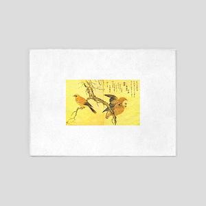 Owl and Jay - Kitagawa Utamaro 5'x7'Area Rug