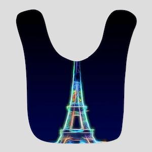 Glowing Eiffel Tower, Paris, Fr Polyester Baby Bib