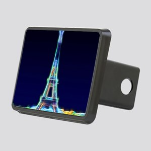 Glowing Eiffel Tower, Pari Rectangular Hitch Cover