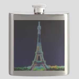 Glowing Eiffel Tower, Paris, France Flask