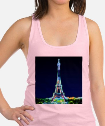 Glowing Eiffel Tower, Paris, Fr Racerback Tank Top