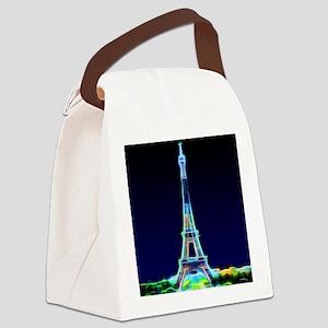 Glowing Eiffel Tower, Paris, Fran Canvas Lunch Bag