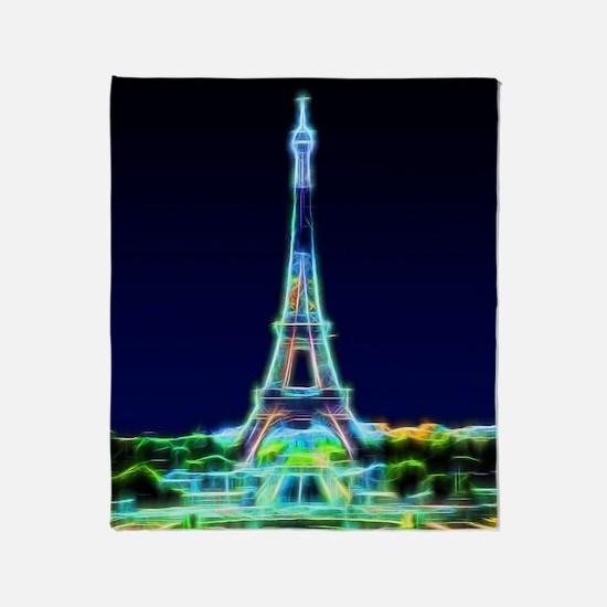 Glowing Eiffel Tower, Paris, France Throw Blanket