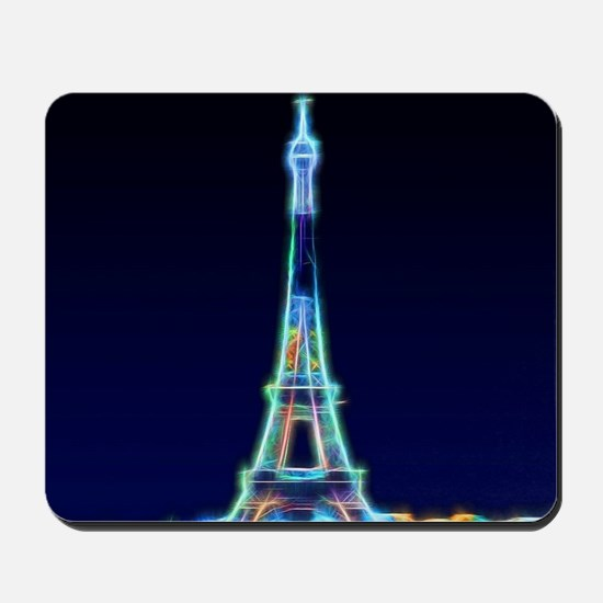 Glowing Eiffel Tower, Paris, France Mousepad