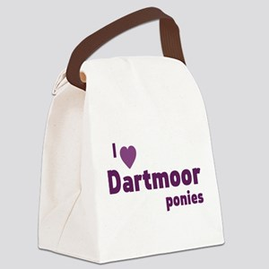 Dartmoor ponies Canvas Lunch Bag