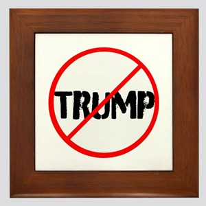 Anti Trump, no Trump Framed Tile