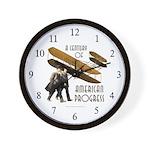 Wright Brothers American Progress Wall Clock