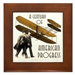 Wright Brothers American Progress Framed Tile