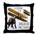 Wright Brothers American Progress Throw Pillow