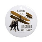 Wright Brothers American Progress Ornament (Round)