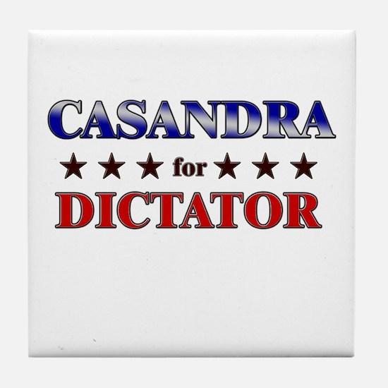 CASANDRA for dictator Tile Coaster