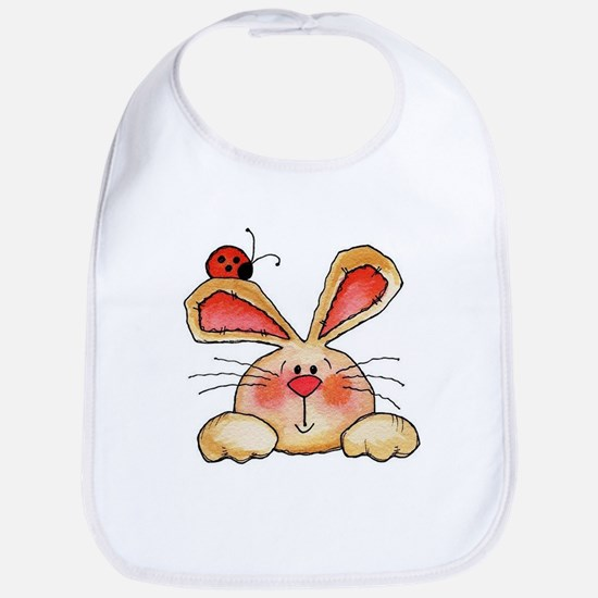 BUNNY EARS AND LADY BUG Bib