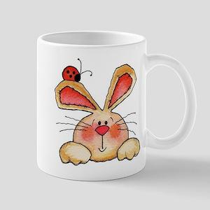 BUNNY EARS AND LADY BUG Mugs