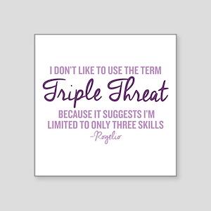 "Jane The Virgin Triple Thre Square Sticker 3"" x 3"""
