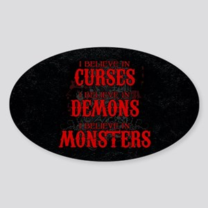 I Believe in Curses Sticker (Oval)