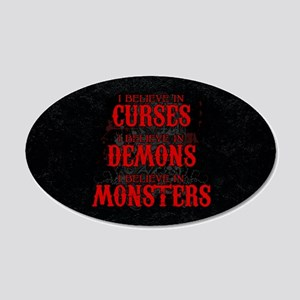 I Believe in Curses 20x12 Oval Wall Decal