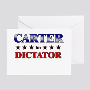 CARTER for dictator Greeting Card