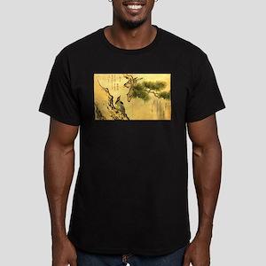 Woodpecker and Grossbeak by Utamaro T-Shirt