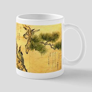 Woodpecker and Grossbeak by Utamaro Mugs
