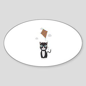 Cat with Kite Sticker