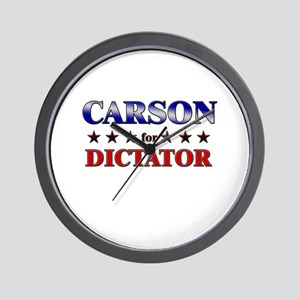 CARSON for dictator Wall Clock