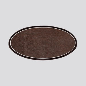 Brow And Black Vintage Leather Look Patch