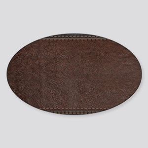Brow And Black Vintage Leather Look Sticker