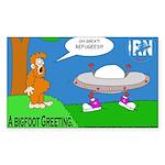 Bigfoot Greeting -Sticker