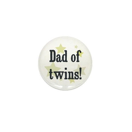 Dad of twins! Mini Button