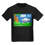 Bigfoot Greeting Kids Dark T-Shirt
