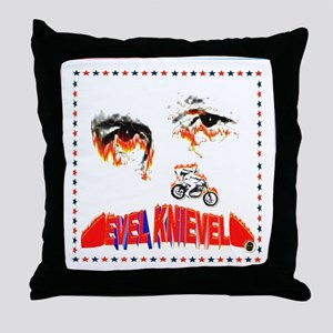 Evel Knievel Throw Pillow
