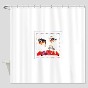 Evel Knievel Shower Curtain