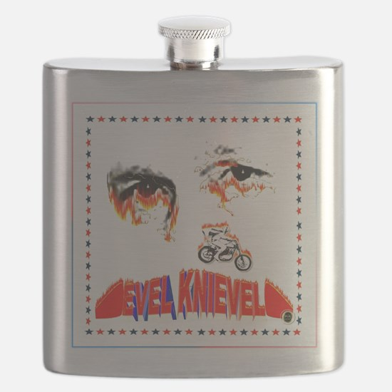 Evel Knievel Flask