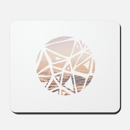 Geometric dreamy sky Mousepad