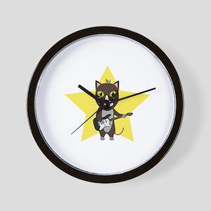 Rock-Music Cat Wall Clock